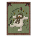 Wynter Blessin's Snowman Greeting Card