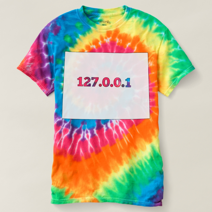 Wyoming 127.0.0.1 Home Computer Nerd IP Address T-shirt - Best Selling Long-Sleeve Street Fashion Shirt Designs