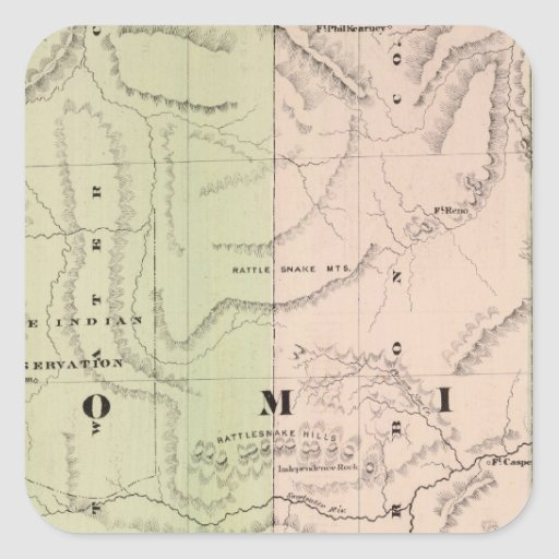 Wyoming 2 square sticker
