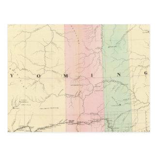 Wyoming 3 tarjeta postal