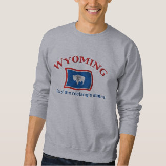 Wyoming - A Rectangle State Pullover Sweatshirt