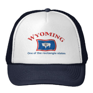 Wyoming - A Rectangle State Trucker Hat