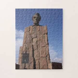 Wyoming Abe Lincoln Memorial Monument Puzzle