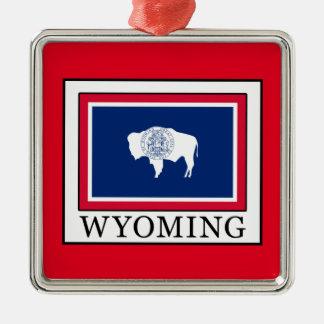 Wyoming Adorno Navideño Cuadrado De Metal