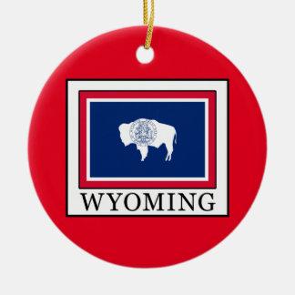 Wyoming Adorno Navideño Redondo De Cerámica