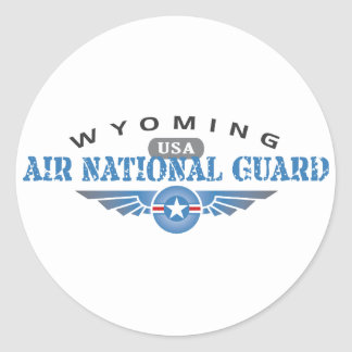 Wyoming Air National Guard Classic Round Sticker