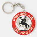 Wyoming Air Service Key Chains