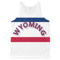 Wyoming All-Over Printed Unisex Tank