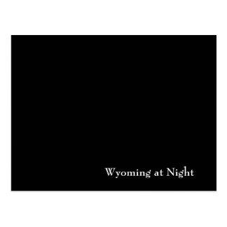 Wyoming at Night Postcard