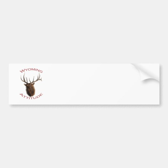 Wyoming Attitude Bumper Sticker