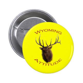 Wyoming Attitude Pinback Button
