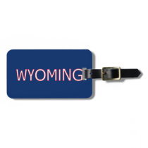 Wyoming Bag Tag