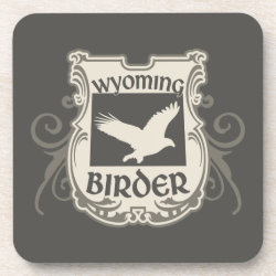 Beverage Coaster with Wyoming Birder design