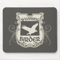 Mousepad with Wyoming Birder design