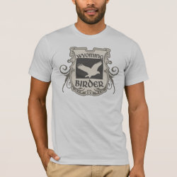 Men's Basic American Apparel T-Shirt with Wyoming Birder design