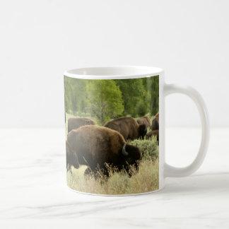 Wyoming Bison Nature Animal Photography Coffee Mug