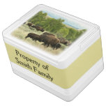 Wyoming Bison Nature Animal Photography Drink Cooler