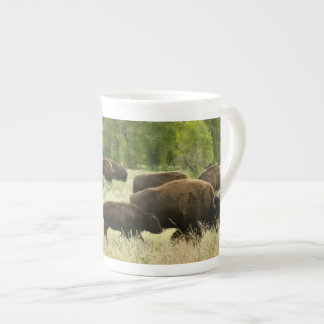 Wyoming Bison Nature Animal Photography Tea Cup