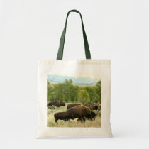Wyoming Bison Nature Animal Photography Tote Bag