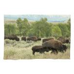 Wyoming Bison Nature Animal Photography Towel