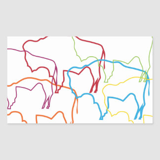 wyoming bison pride blur rectangular sticker