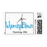 Wyoming Blows Postage / Style 3