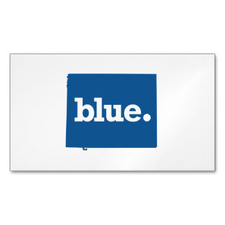 WYOMING BLUE STATE MAGNETIC BUSINESS CARD