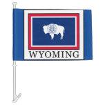 Wyoming Car Flag