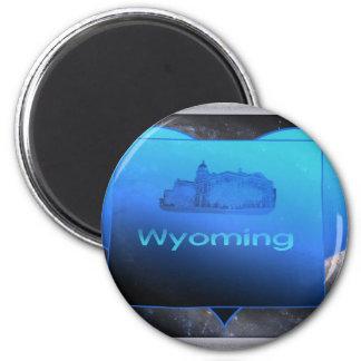 Wyoming casero imán de frigorífico
