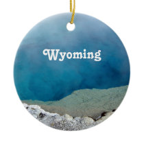 Wyoming Ceramic Ornament