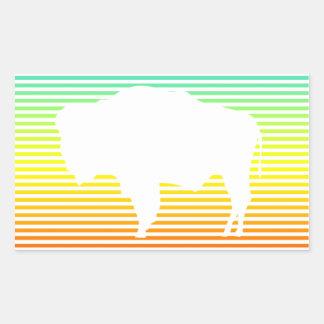 wyoming chill fade rectangular sticker