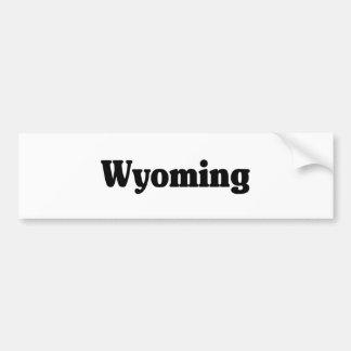 Wyoming Classic Car Bumper Sticker