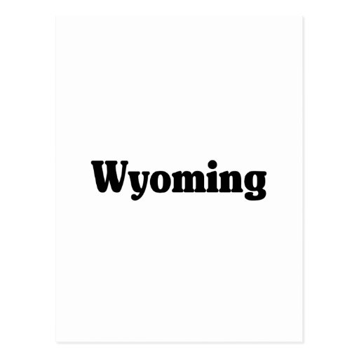 Wyoming Classic Post Card