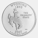 Wyoming Classic Round Sticker