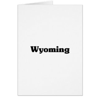 Wyoming  Classic t shirts Greeting Card