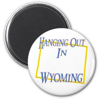 Wyoming - colgando hacia fuera imanes para frigoríficos