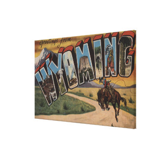 Wyoming (Cowboy)Large Letter ScenesWyoming Gallery Wrapped Canvas