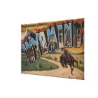 Wyoming (Cowboy)Large Letter ScenesWyoming Canvas Print