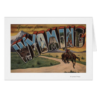 Wyoming (Cowboy)Large Letter ScenesWyoming Greeting Cards