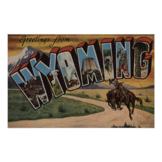 Wyoming (Cowboy)Large Letter ScenesWyoming Poster