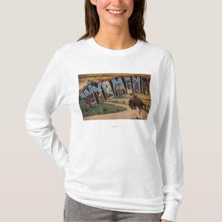 Wyoming (Cowboy)Large Letter ScenesWyoming T-Shirt