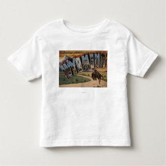 Wyoming (Cowboy)Large Letter ScenesWyoming Toddler T-shirt