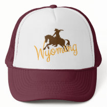 Wyoming Cowboy Trucker Hat