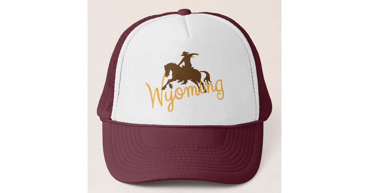 Wyoming Cowboy Trucker Hat | Zazzle com