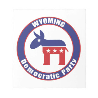 Wyoming Democratic Party Memo Note Pads