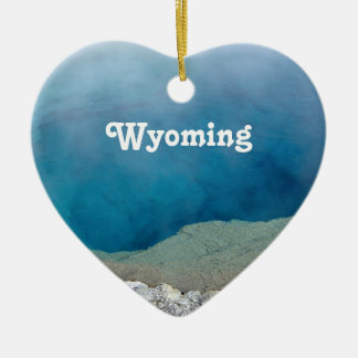 Wyoming Double-Sided Heart Ceramic Christmas Ornament