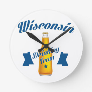Wyoming Drinking team Round Clock