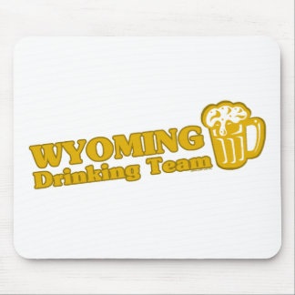 Wyoming Drinking Team t shirts Mousepad