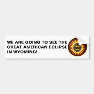Wyoming Eclipse Bumper Sticker