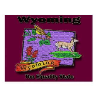 Wyoming el pájaro de estado de la igualdad estimad tarjeta postal